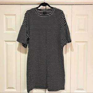 Who What Wear Striped T-Shirt Dress
